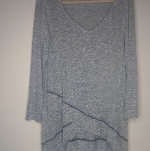 Easel tunic grey blue small